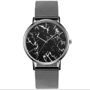 Black Marble Quartz Watch